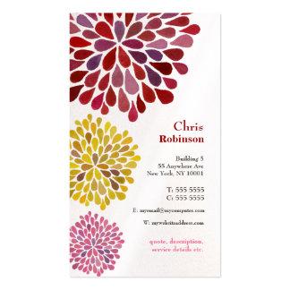 真珠のダリアの花の破烈の花の名刺 スタンダード名刺