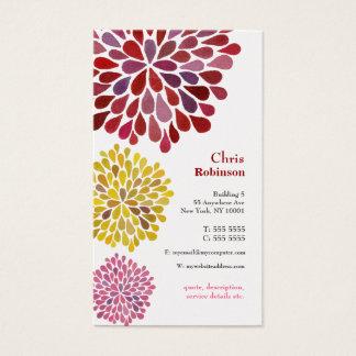 真珠のダリアの花の破烈の花の名刺 名刺