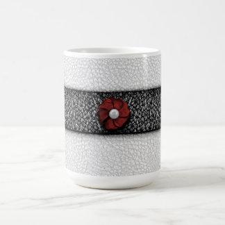 真珠の花およびレース コーヒーマグカップ