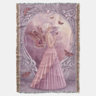 真珠のBirthstoneの妖精のブランケット スローブランケット
