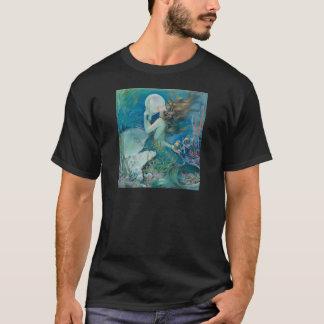 真珠のHanesのTシャツを握っているヴィンテージの人魚 Tシャツ
