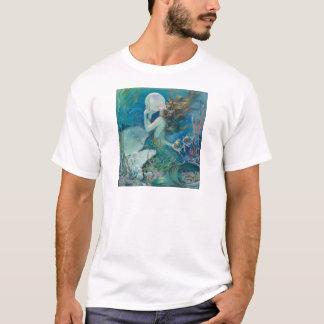 真珠のTシャツを握っているヴィンテージの人魚 Tシャツ