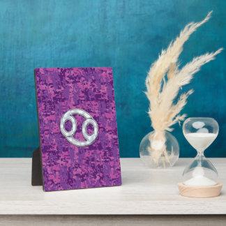真珠はデジタル迷彩柄の蟹座の(占星術の)十二宮図の印を好みます フォトプラーク
