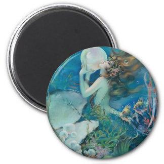 真珠を握っているヴィンテージの人魚 マグネット