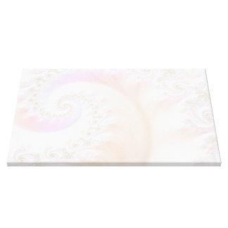 真珠母の贅沢なフラクタルの螺線形 キャンバスプリント