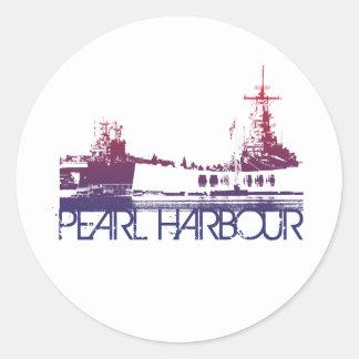 真珠湾のスカイラインのデザイン ラウンドシール