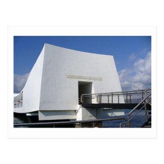真珠湾の記念物の郵便はがき ポストカード