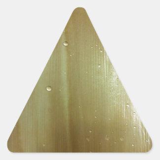 真珠色のやし葉状体 三角形シール