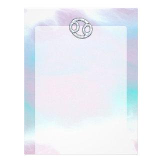 真珠色のスタイルの蟹座の記号の占星術 レターヘッド