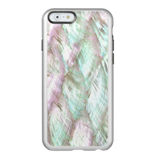 真珠色のピンクのプリントのFeather®の輝やきのiPhone 6 Incipio Feather Shine iPhone 6ケース