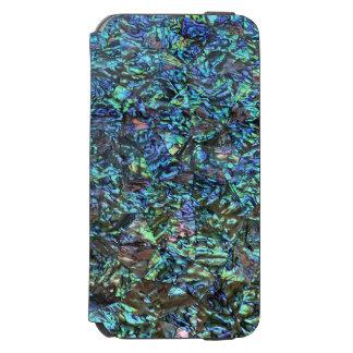 真珠色のプリントの青緑 INCIPIO WATSON™ iPhone 5 財布型ケース