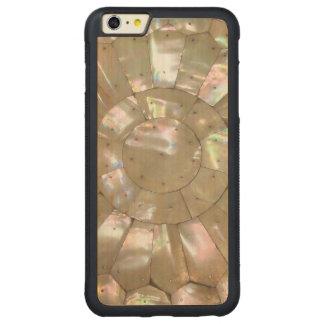 真珠色のプリントCoppernail CarvedメープルiPhone 6 Plusバンパーケース