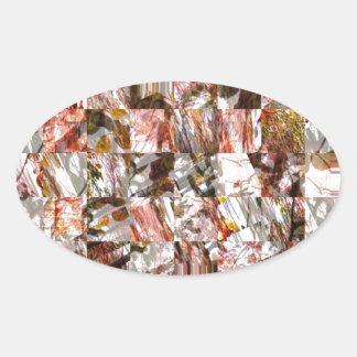 真珠色 楕円形シール