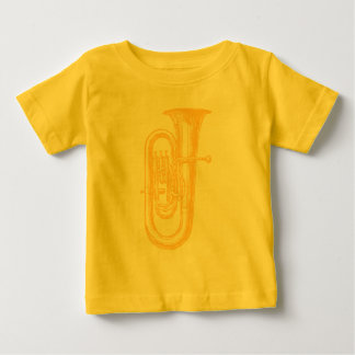 真鍮のテューバ ベビーTシャツ
