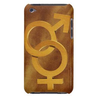 真鍮の男性および女性の記号 Case-Mate iPod TOUCH ケース