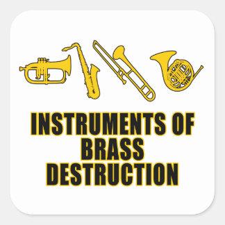 真鍮の破壊の楽器 スクエアシール
