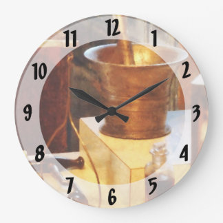 真鍮乳鉢および乳棒 ラージ壁時計