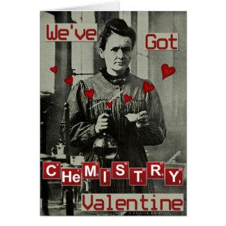 真面目なバレンタインデーのマリ・キュリーおもしろいな化学 カード