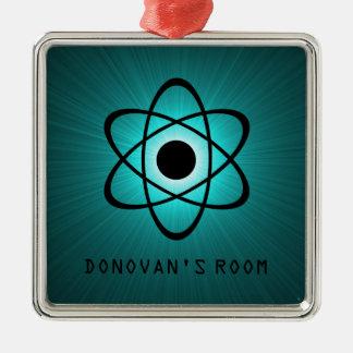 真面目な原子ドア・ハンガーのオーナメント、ティール(緑がかった色) メタルオーナメント