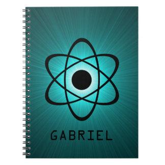 真面目な原子ノート、ティール(緑がかった色) ノートブック