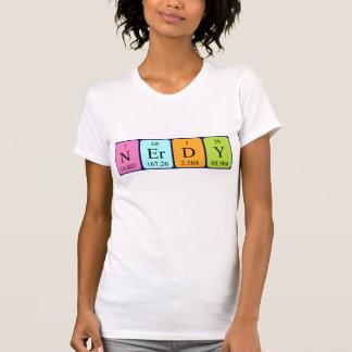 真面目な周期表の単語のワイシャツ Tシャツ
