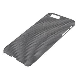真黒およびチャコールグレーカーボン繊維ポリマー iPhone 8 PLUS/7 PLUS ケース