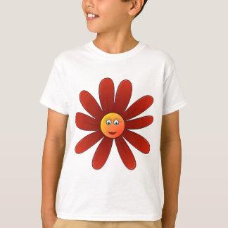 眠いデイジーの赤 Tシャツ