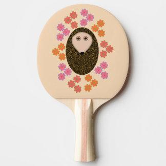 眠いハリネズミおよび花の卓球ラケット 卓球ラケット