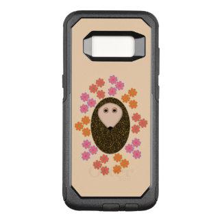 眠いハリネズミおよび花の電話例 オッターボックスコミューターSamsung GALAXY S8 ケース