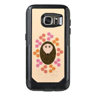 眠いハリネズミおよび花の電話例 オッターボックスSamsung GALAXY S7ケース