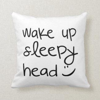 眠いヘッドおもしろいな装飾用クッションを目覚めて下さい クッション