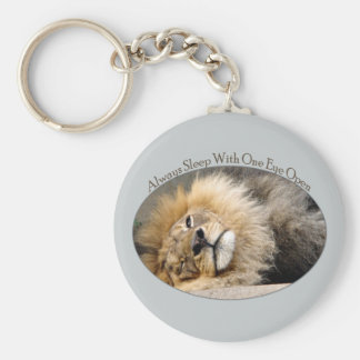 眠いライオンのまばたきKeychain キーホルダー