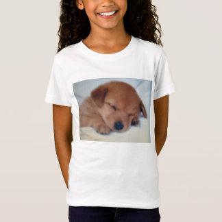 眠い子犬のワイシャツ Tシャツ