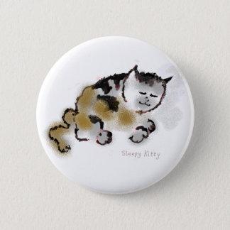 眠い子猫ボタン 5.7CM 丸型バッジ