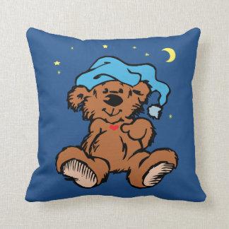 眠い時間くまの月および星 クッション