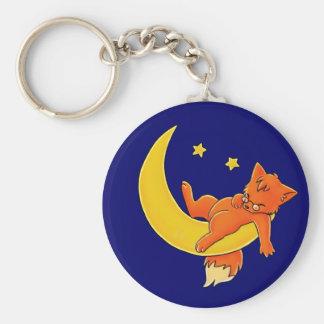 眠い月のキツネ キーホルダー