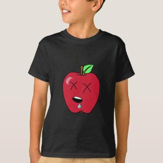 眠い熱狂の赤いApple Tシャツ