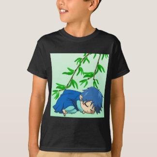 眠い男の子の妖精 Tシャツ