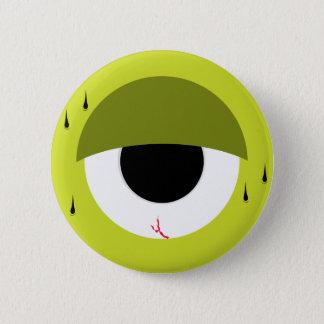 眠い緑の瞳 5.7CM 丸型バッジ