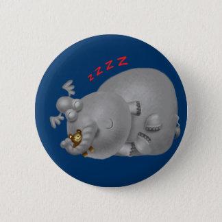 眠い象 5.7CM 丸型バッジ