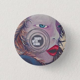 眠い鳥のスタジオボタン2 3.2CM 丸型バッジ