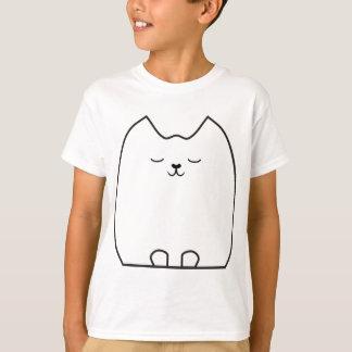 眠くかわいらしい子猫 Tシャツ