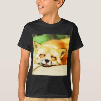眠く夢みるようなキツネ Tシャツ