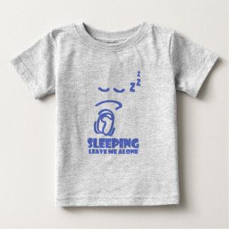 眠って、私を放っておいて下さい(青い) ベビーTシャツ