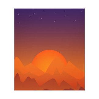 眠る丘の南西景色の芸術の日没 キャンバスプリント