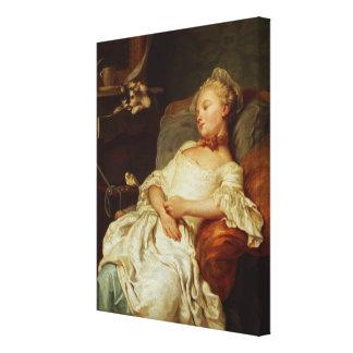 眠る人1759年(キャンバスの油) キャンバスプリント