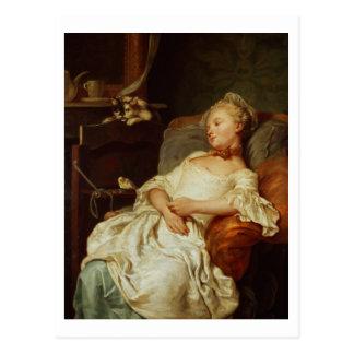 眠る人1759年(キャンバスの油) ポストカード
