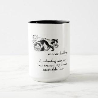 眠る猫: 俳句-飲料のマグ マグカップ