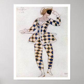 眠れる森の美女からの道化師のためのデザインを、着せて下さい ポスター