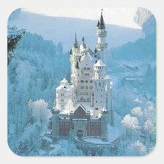 眠れる森の美女の城 スクエアシール